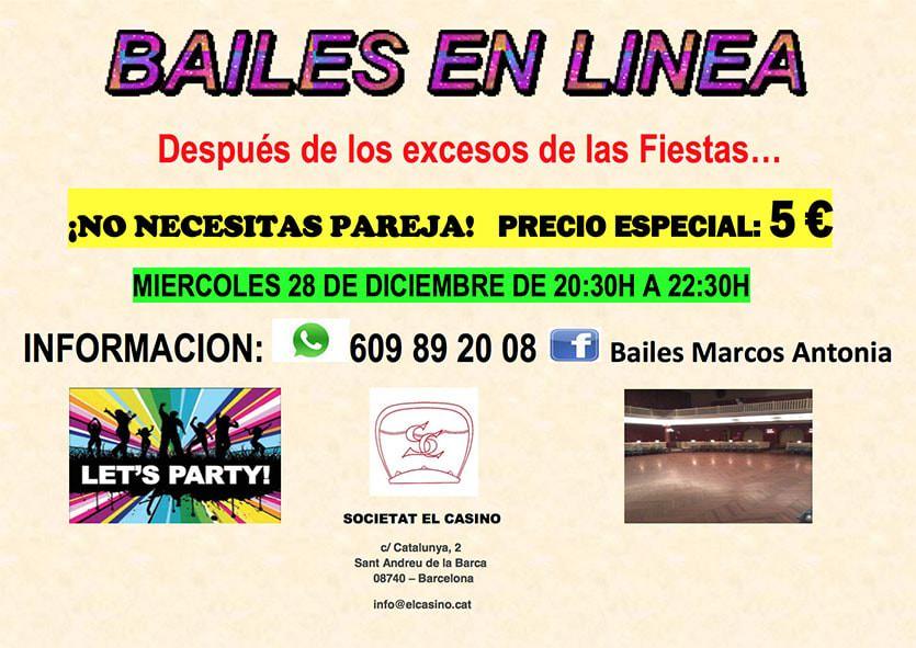 Bailes en Línea - Miércoles 28 de diciembre