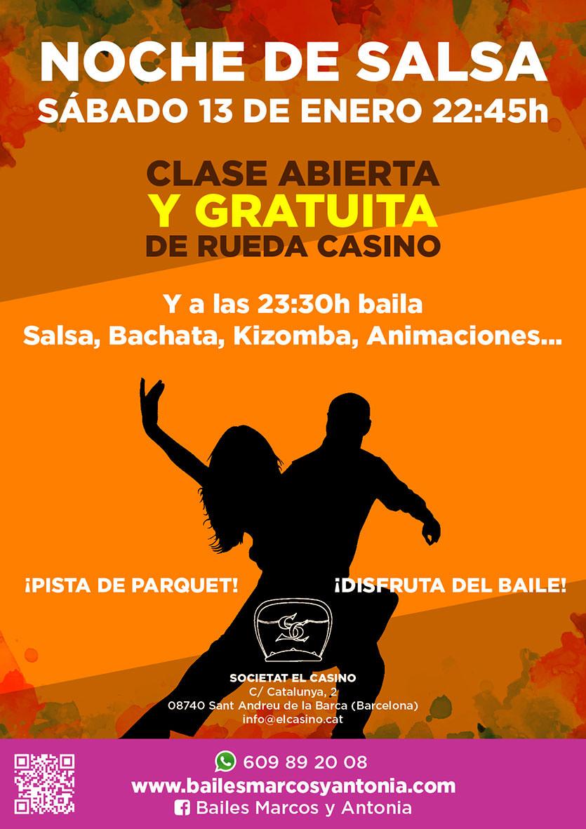 Noche de Salsa en Sant Andreu | Bailes Marcos y Antonia